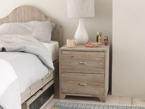 Made from reclaimed fir, with vintage-feel shell handles and a simple design…