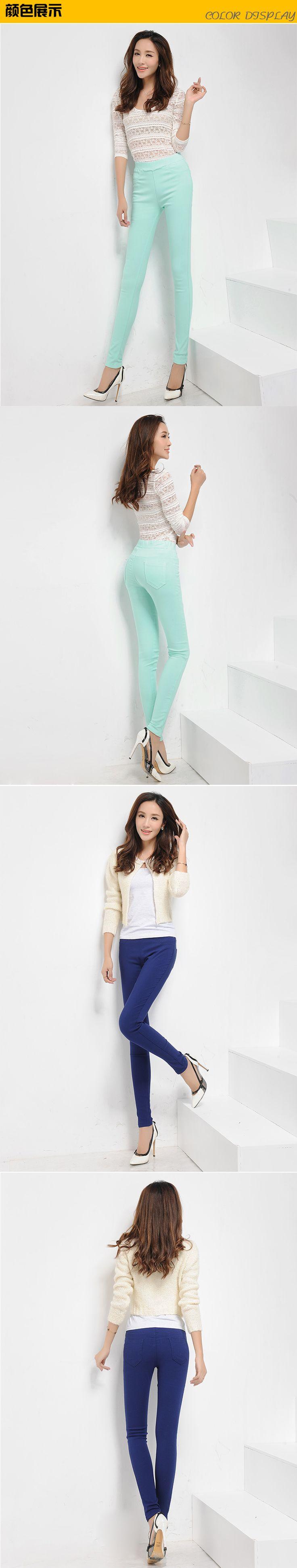 Зимние женские брюки средней высоты эластичный пояс руно конфеты цветной карандаш брюки толстые женщины теплые брюки Большой размер купить на AliExpress