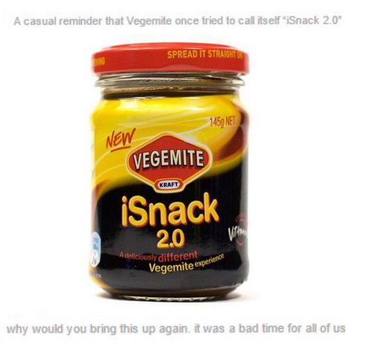 Let us never speak of iSnack 2.0 again.