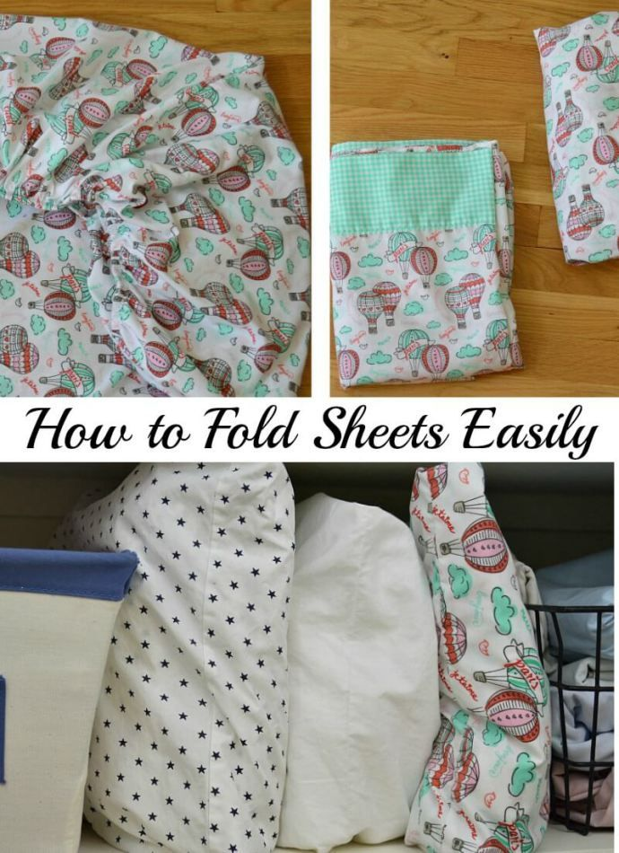 Easy tips for how to fold bed sheets for an organized linen closet. | Organized 31