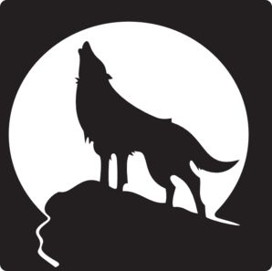 Wolf Howling At The Moon clip art - vector clip art online, royalty free & public domain