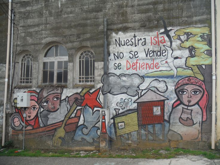 Protest mural in Ancud