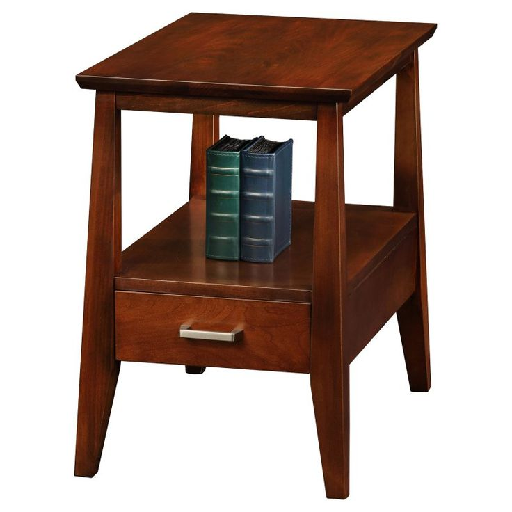 Leick Delton Storage Chairside End Table with Drawer - 10406
