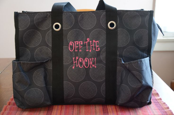 The Zip Top Organizing Utility Tote makes for a handy crochet bag! - De Canto