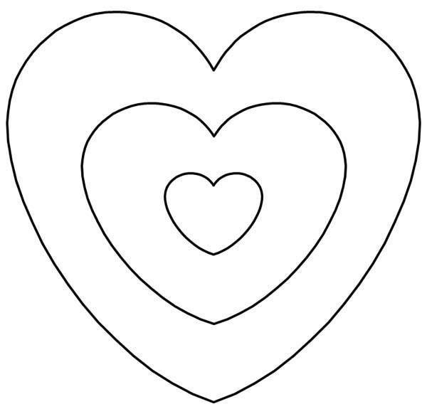 plantilla-de-corazon-para-manualidades … | Shirley Temple | Pinte…