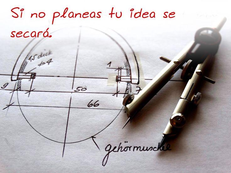 Planear prevé factores que pueden afectar el crecimiento de tu idea. Ajusta el camino para que puedas avanzar con ella.