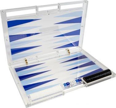 Translucent backgammon board