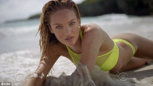 26-year-old Candice Swanepoel poses for Victoria's Secret Swimsuit special