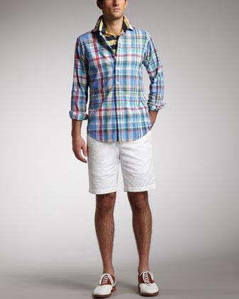 Plaid Sport Shirt, Striped Polo & Slim GI Shorts by Polo Ralph Lauren at  Neiman