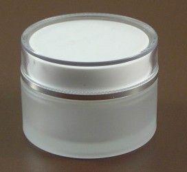 Słoik szklany na krem 50 ml z ozdobną nakrętką