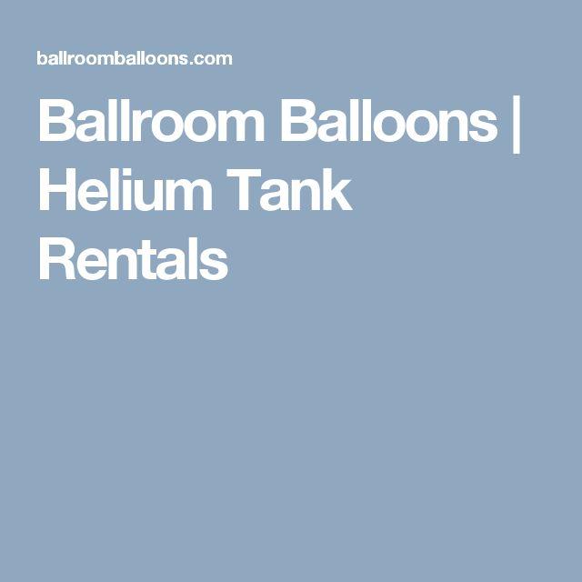 Ballroom Balloons | Helium Tank Rentals