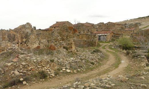 L'aldea deshabitada de Cañada Seca, a #Alpuente.