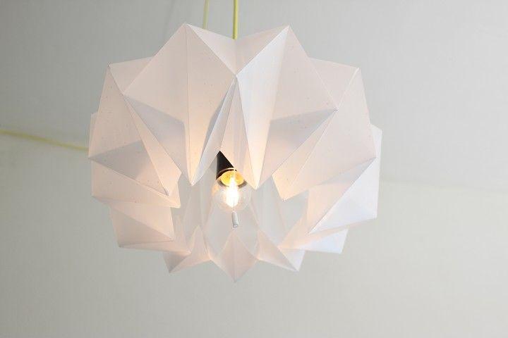 Initiales GG ... : DIY : une lampe origami!
