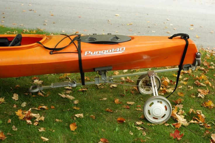 This is so easy, it's embarrassing.  Here is how to make your own kayak cart out of an old golf bag cart.