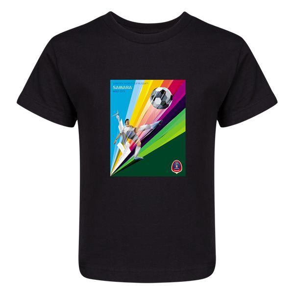 Host City Artwork Samara\nKids T-Shirt (Black)