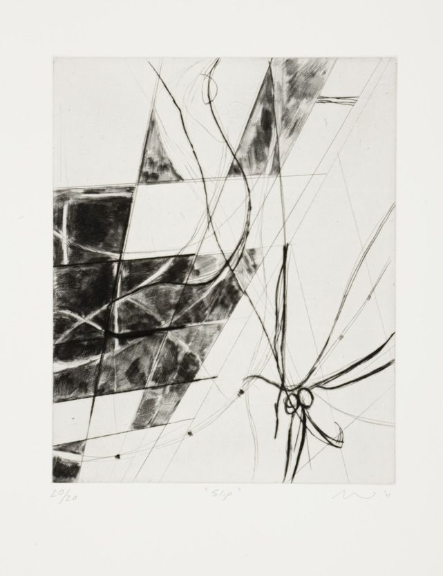 Slip (2011). Drypoint
