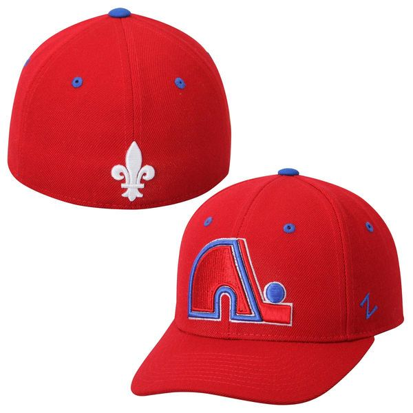 Quebec Nordiques Zephyr Crosscheck Fitted Hat - Red - $19.99