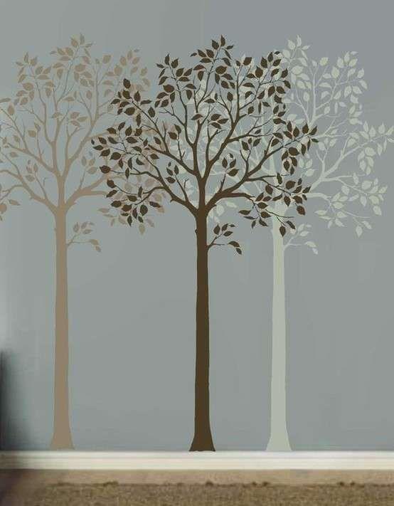 Oltre 25 fantastiche idee su decorazione da parete con alberi su pinterest muro con alberi - Stencil albero da parete ...