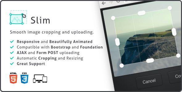 Slim v1.1.1 - Image Cropper, Responsive Uploading and Ratio Cropping Plugin