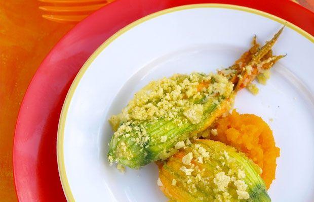 Fiori di zucca croccanti al forno con ricotta e mozzarella - Ricette - Piccolini Barilla
