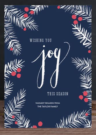 joy holiday card minted