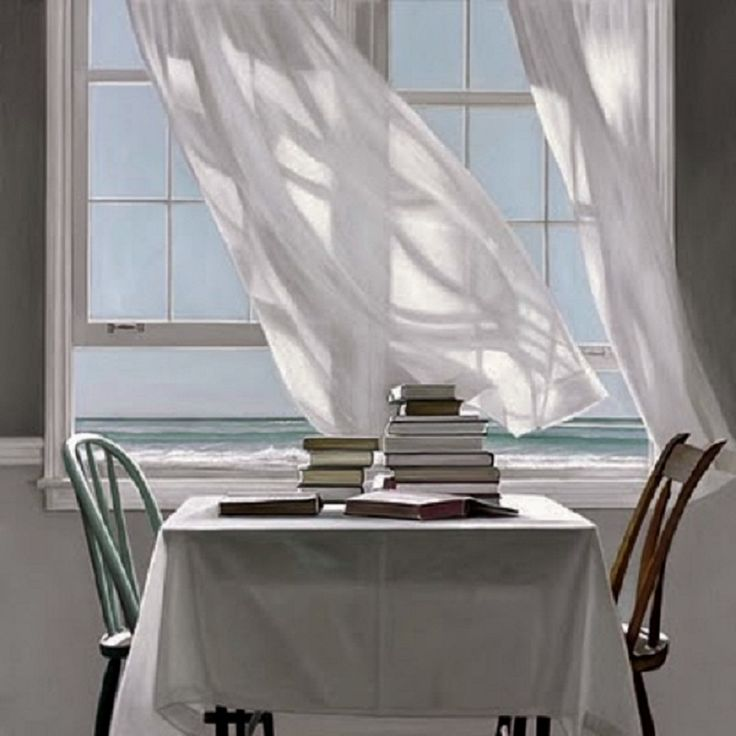 81 best images about my artist karen holl ngsworth on for Painting sheer curtains