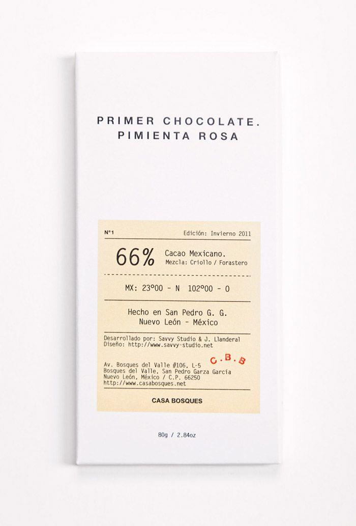 Packaging - primer chocolate.