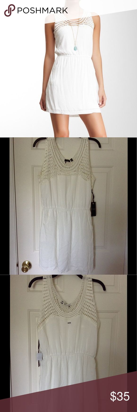 ☀️NWT DEX SUMMER DRESS 🌸NWT DEX Crotchet Cream Trim Dress....elastic waist..scoop neck front pockets. True to size..fully lined. Great dress for summer!!!!   💯 Authentic Brand  ‼️NO TRADES  🛍 2+ BUNDLE = SAVINGS   ❓ Please don't hesitate to ask questions  🖲 USE OFFER BUTTON TO NEGOTIATE DEX Dresses Mini