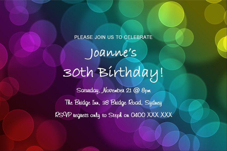 30th Birthday Invitation by KleezPrints on Etsy