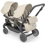 Cam Twin Pulsar Tandem Pram Reversible Seats beige - Collection 2015