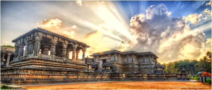 The ruins of Halebidu, Karnataka, India