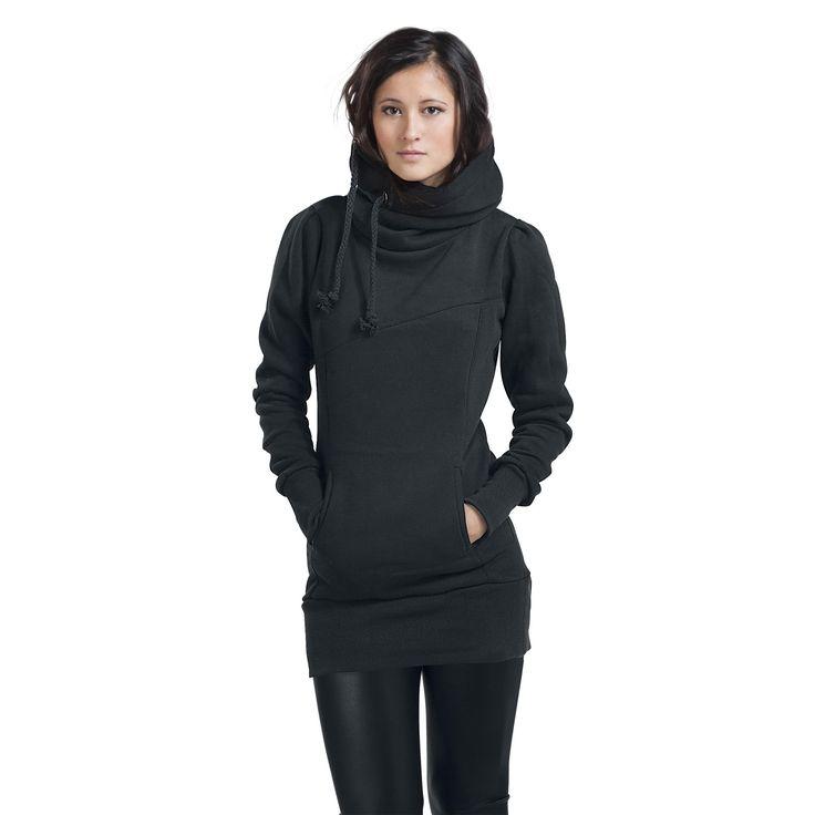 Smart Hoodie Kapuzenpullover, Frauen schwarz • EMP 34,99