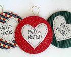 Kit Enfeite Feliz Natal - 3 peças