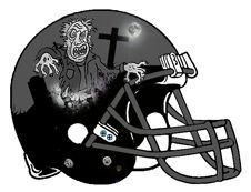 "Fantasy Football Helmet design for Team Zombie --- in the style of ""Night of the…"