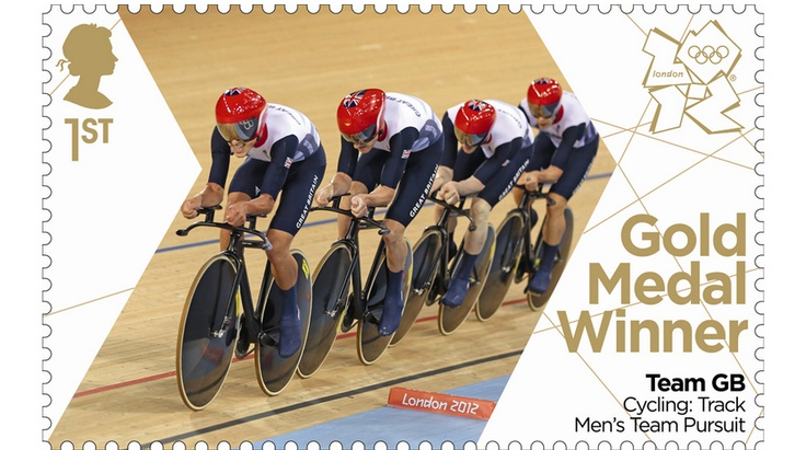Team GB Men's team pursuit team of Ed Clancy, Geraint Thomas, Steven Burke and Peter Kennaugh blazed to victory.