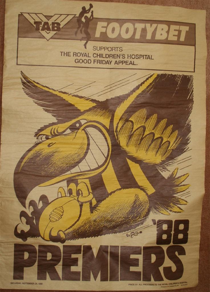 Weg Premiers Poster 1988 Hawthorn Hawks