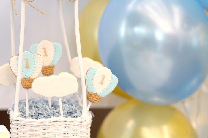 Cookies on Sticks from a Vintage Hot Air Balloon Birthday Party via Kara's Party Ideas   KarasPartyIdeas.com (10)