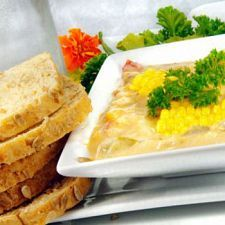 """Corn and Chicken Chowder. It would be easy to """"skinny-ize"""" this, us..."""