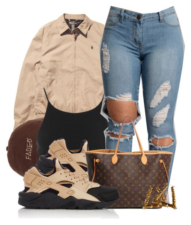 """Untitled #583"" by b-elkstone ❤ liked on Polyvore featuring Ralph Lauren, Miss Selfridge, NIKE and Louis Vuitton"