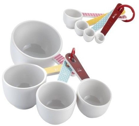 Cake Boss 8 Piece Countertop Accessories Melamine Measuring Cups & Spoons Set