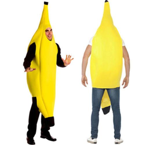 Adult Unisex Funny Banana Suit Yellow Costume Light Halloween Christmas Fruit Fancy Dress