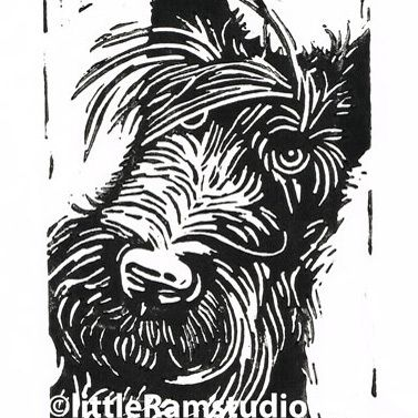 Scottie Dog - Original Hand Pulled Linocut Print £18.00