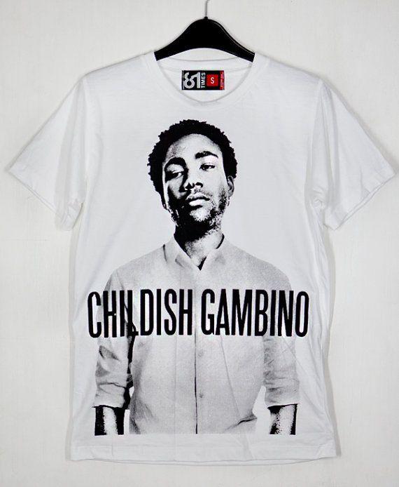 Rapper Childish Gambino Donald McKinley Glover Bino Troy Barnes Camp Derrick Comedy White Unisex T-Shirt S to XXL