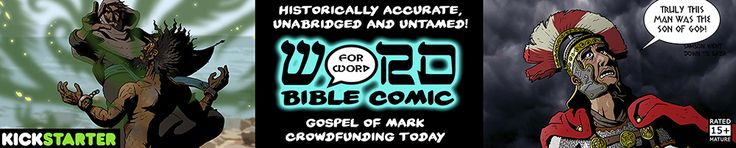 "The Gospel of Mark: Word for WORD Bible Comic (Book 4) Hard hitting, historically accurate, unabridged & untamed graphic novel of the Gospel of Mark! 128-pg, full colour. Aimed at ages 15-40.  ""Frank Miller's 300 meets The Passion of The Christ."" This 128-page graphic novel includes all the words of The Gospel of Mark, unedited and untamed!"