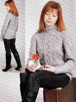 Sweater in Diamond Pattern http://knitchart.com/item/sweater-in-diamond-pattern.html