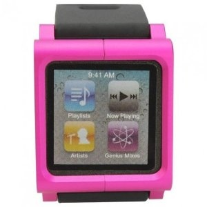 Fashionable Watchband Watch Wrist Strap for iPod Nano(6th Gen) - Pink,CDN$16.99