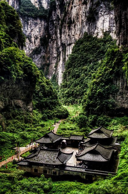 Wulong, Sichuan, China (South China Karst UNESCO World Heritage Site):