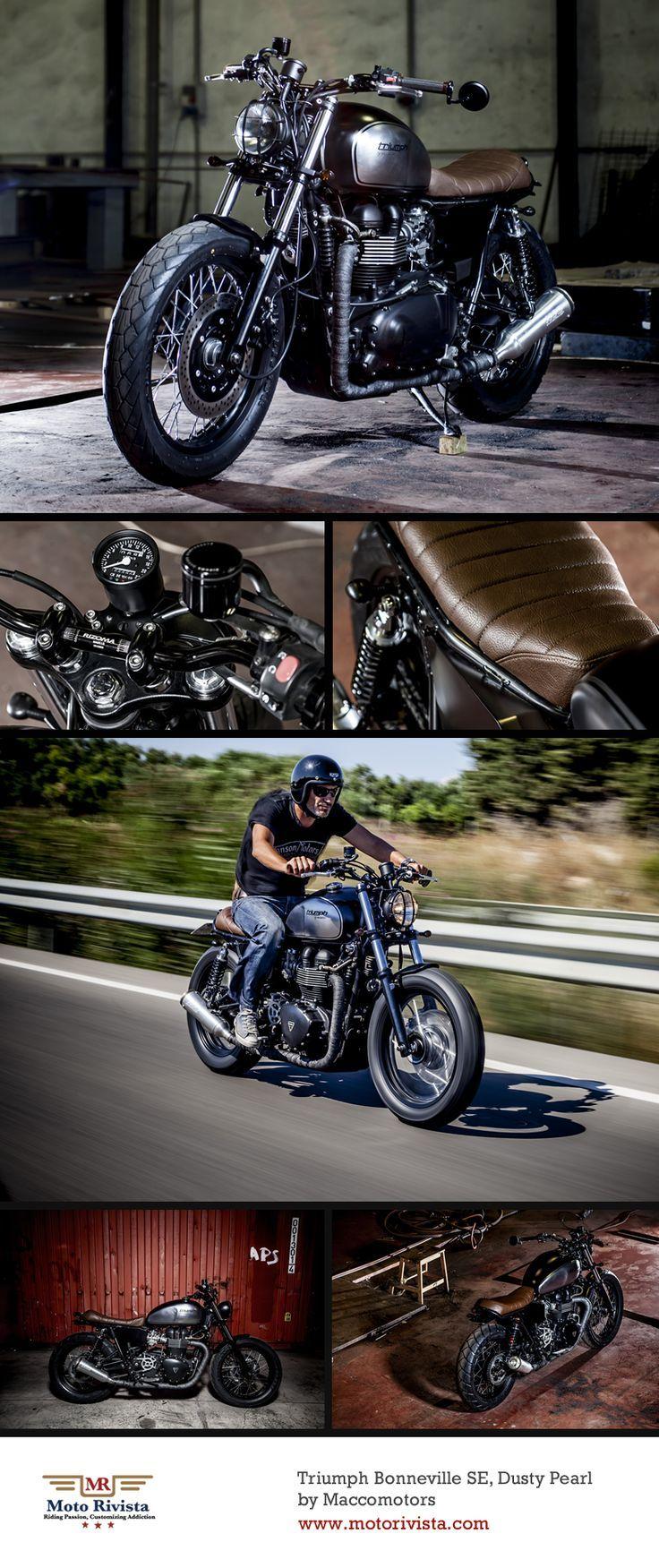 #Triumph #Bonneville SE Custom by Maccomotors ~ Featured on Moto Rivista