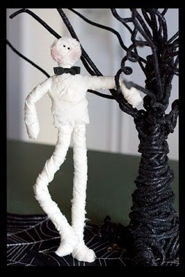 So making this!!!: Black Ties, Halloween Díademuerto, 3Halloween 3, Bows Ties, Halloween Mummy, Ghosts, Tables Centerpieces, Halloween Momias, Pipes Cleaners