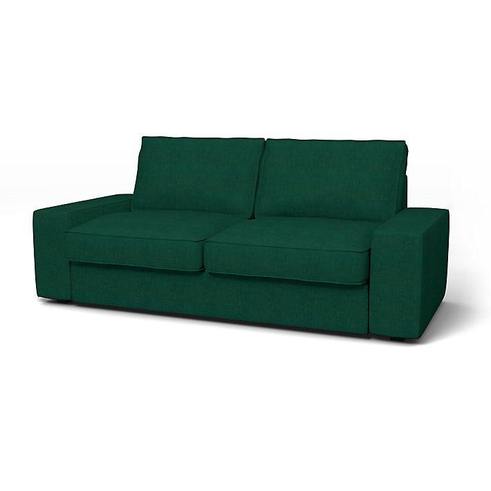 Kivik, Housses de canapé, 2 places, Regular Fit utiliser le tissu Brera Lino Ivy